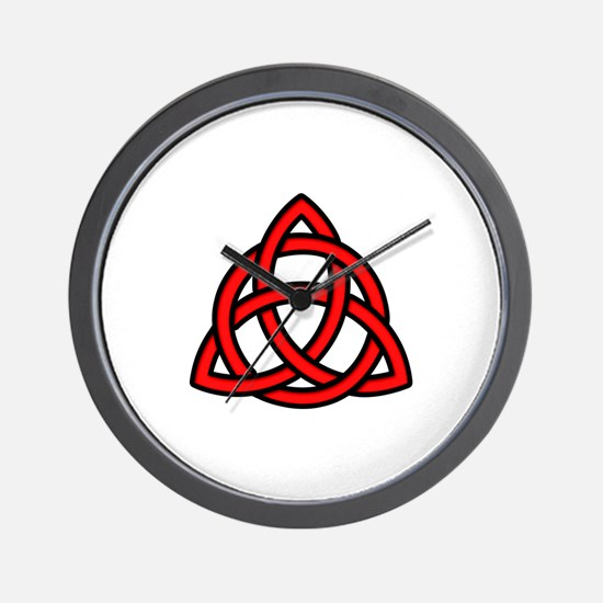 Celtic Knot Red Wall Clock
