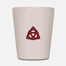 Celtic Knot Red Shot Glass