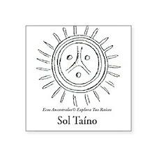 """Sol Taino Square Sticker 3"""" x 3"""""""