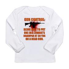Zombie gun control Long Sleeve Infant T-Shirt