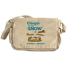 Corgis in the Snow - Bozeman, Montana Messenger Ba