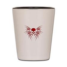 Crimson Skull Tribal Shot Glass