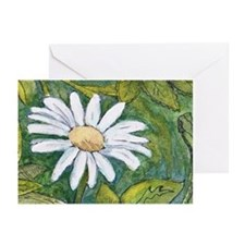 Daisy in Green Greeting Cards (Pk of 20)