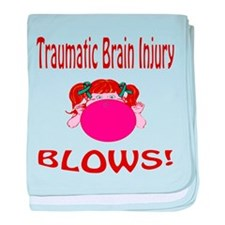 Traumatic Brain Injury Blows! baby blanket