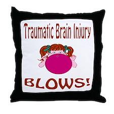Traumatic Brain Injury Blows! Throw Pillow