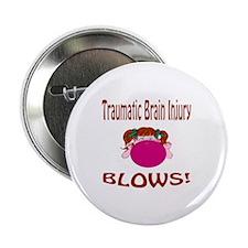 """Traumatic Brain Injury Blows! 2.25"""" Button (100 pa"""