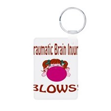 Traumatic Brain Injury Blows! Aluminum Photo Keych