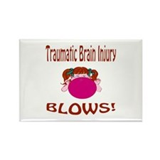 Traumatic Brain Injury Blows! Rectangle Magnet