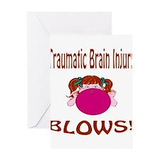Traumatic Brain Injury Blows! Greeting Card