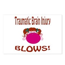 Traumatic Brain Injury Blows! Postcards (Package o
