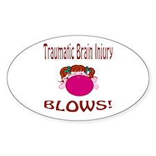 Traumatic Brain Injury Blows! Decal