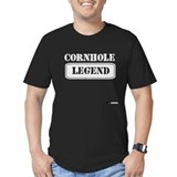 Funny cornhole Fitted T-shirts (Dark)