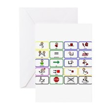 20 Core Words Communication Board Greeting Cards (