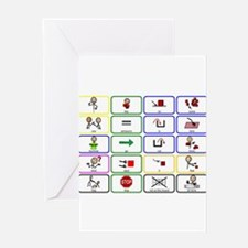 20 Core Words Communication Board Greeting Card