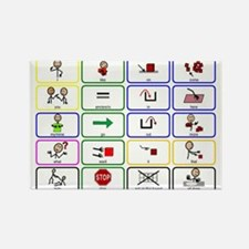 20 Core Words Communication Board Magnets