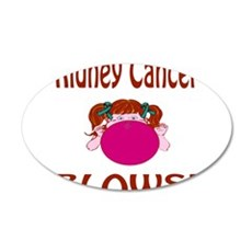 Kidney Cancer Blows! 35x21 Oval Wall Decal