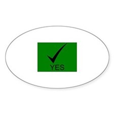 Yes Symbol with Checkmark Decal
