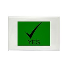 Yes Symbol with Checkmark Rectangle Magnet