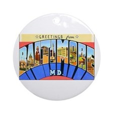 Baltimore Maryland Ornament (Round)