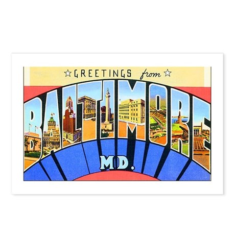 Baltimore Maryland Postcards (Package of 8)