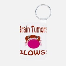 Brain Tumors Blow! Aluminum Photo Keychain