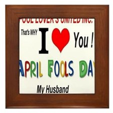 April Fool Husband Framed Tile