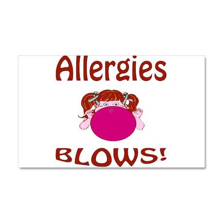 Allergies Blow! Car Magnet 20 x 12