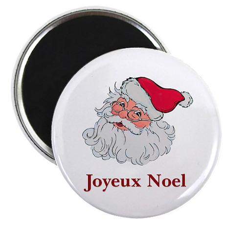 """Santa Joyeux Noel 2.25"""" Magnet (100 pack)"""