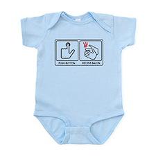 Push button! Infant Bodysuit