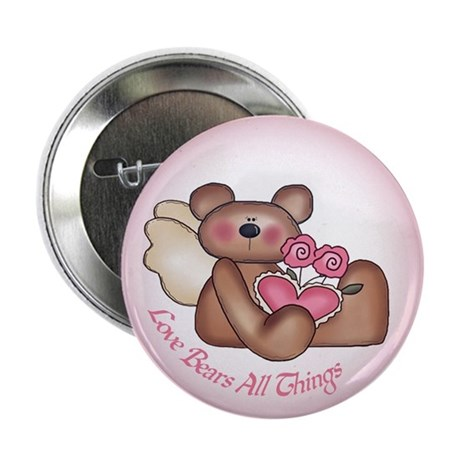 "Love Bears All Angel 2.25"" Button (100 pack)"