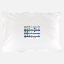 8x8 Picture Communication Board Pillow Case