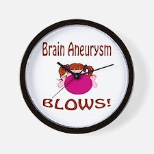 Brain Aneurysm Blows! Wall Clock