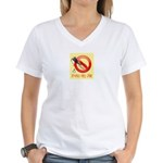 Spackle Free Zone Women's V-Neck T-Shirt