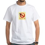 Spackle Free Zone White T-Shirt