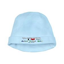 April Fools United Sister baby hat
