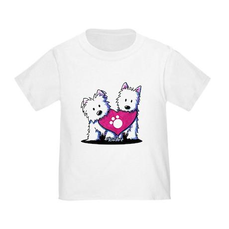 Valentine Westies Toddler T-Shirt