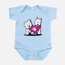Valentine Westies Infant Bodysuit