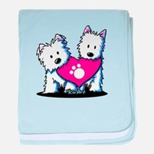Valentine Westies baby blanket