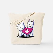 Valentine Westies Tote Bag