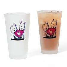Valentine Westies Drinking Glass