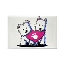 Valentine Westies Rectangle Magnet