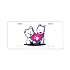 Valentine Westies Aluminum License Plate