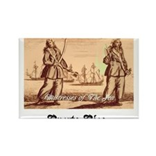 Annn Bonny and Mary Reed Women Pirates Rectangle M