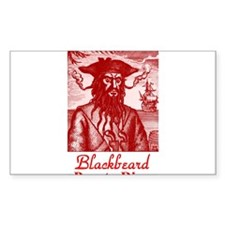 Blackbeard Pirate in Puerto Rico Decal