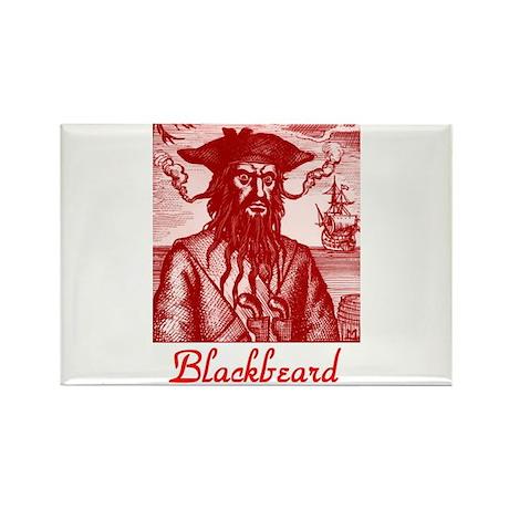 Blackbeard Pirate in Puerto Rico Rectangle Magnet