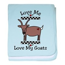 Love Me Love My Goats baby blanket