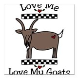 Goat mountain Square Car Magnets