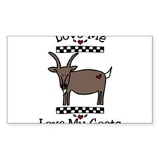Love Me Love My Goats Decal