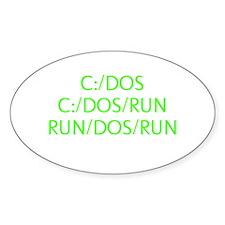 C:/DOS RUN Decal