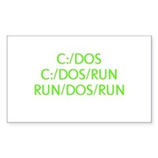 C:/DOS RUN Decal